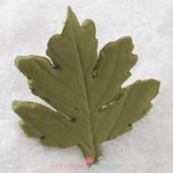 """2"""" Maple Leaves - Medium - Green w/ Wire (10 per box)"""