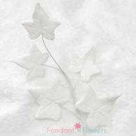 "4"" Ivy Spray - White (10 per box)"