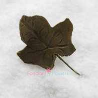 """1.5"""" Ivy Leaves - Small - Green w/ Wire (10 per box)"""