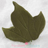 "2"" Ivy Leaves - Medium - Green w/ Wire (10 per box)"