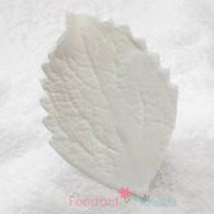 "3.5"" Hibiscus Leaves - XL - White w/ Wire (10 per box)"
