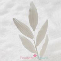 "5"" Orchid Leaf Spray - White (10 per box)"