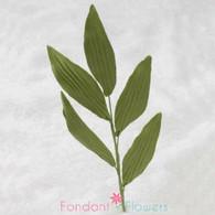 """5"""" Orchid Leaf Spray - Green (10 per box)"""