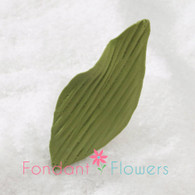"2.25"" Orchid Leaves - Small - Green w/ Wire (10 per box)"