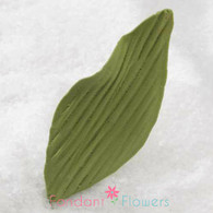 "2.75"" Orchid Leaves - Medium - Green w/ Wire (10 per box)"