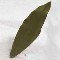 "4"" Lily Leaves - Large - Green w/ Wire (10 per box)"