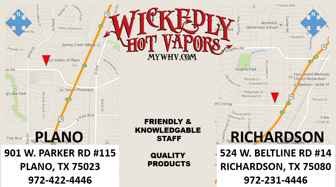 Wickedly Hot Vapors Locations