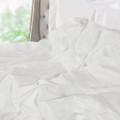 Ultra Deluxe 100-Percent Natural Mulberry Silk Filled Dobby White Comforter, All Seasons