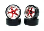 CS 1:10 drift car Scale tyre & rim 4pcs 3mm offset wheels