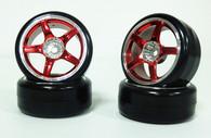 CS 1:10 Scale tyre & rim set 4pcs TY-002+2059.3 3mm offset wheels