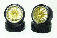 CS Model 1:10 Scale tyre & rim 4pcs TY-028+5049G 3mm offset wheels