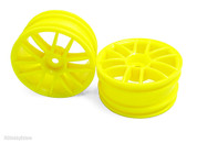 02018 Yellow Wheel Rims 2 pcs 1/10 Scale Spare Part For HSP Rc Cars