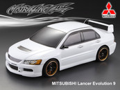 MITSUBISHI LANCER EVOLUTION 9 PC BODY SHELL with Chrome Light Bucket