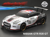 NISSAN GTR R35 GT PC BODY SHELL with Decal and chrome light bucket