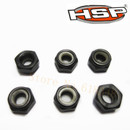 50081 HSP Nuts (M6) 6Pcs 1/5 RC Model Gas Power Car Parts For 4WD Baja Buggy Monster Truck 94050 94051 94053