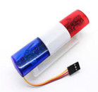 Police Car LED Lighting System Oval Style (Blue / Red)