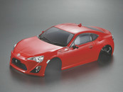 Killer Body 1/10 Toyota 86 Finished Body Light buckets assembled (Red)