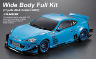 Killer Body 1/10 Wide Body Full Kit A Toyota 86 & Subaru BRZ