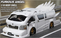 Killer Body 1/10 Toyota Hiace FURIOUS ANGEL Finished Body Light buckets assembled