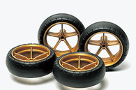 Tamiya - Large Diameter Narrow Lightweight Wheels w/Arched Tires