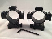Ade Advanced Optics 35mm low Mounts with Picatinny rails on 3 sides. Rifle scope