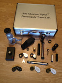 Gemologists' Travel/portable Lab Suitcase. Including Microscope, dichroscope, spectroscope, chelsea filter, ruby filter, jadeite filter, polariscope, darkfield loupe, uv magnifier, gem refractometer, polariscope, conoscope, refractive index liquid oi