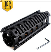 ".223 Carbine Rifle Quad Rail 4/15 RIS Handguard 6.5"" Picatinny Rail Mount System"