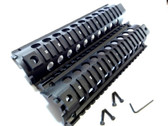 "Mid/middle Length 8.5"" Inch Quad Rail System Drop in 2 Piece Handguard Picatinny."