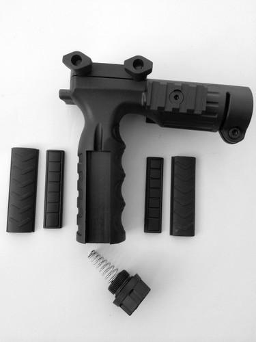 Ar rifle grip foregrip storage pressure switch