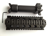 "2 Combo! 6.5"" Carbine Rifle Quad Rail RIS Handguard + Fore Grip Bipod with Legs"