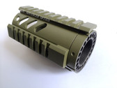 "AR15 OD GREEN Pistol Length 4.2"" inch Free Float Quad Rail Rifle Handguard System 4"""