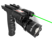 Rifle Vertical Foregrip Grip + 200 Lumen Flashlight and Green Laser Combo Sight