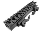 QD Quick Release 13 Slot Double Picatinny Rail See Through Rifle Mount Rise quad