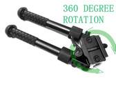 "360 degree 6""-9"" Swivel Rotate Adjustable Quick Release Bipod Pivot Traverse QD"