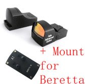 Ade Optics WATERPROOF Compact MINI Red Dot Reflex Sight Pistol for Berreta
