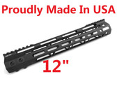 "MADE IN USA!- ADE PRO 12"" INCH RAIL SUPER SLIM HANDGUARD FREE FLOAT"