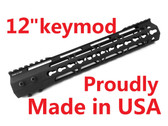 "KEYMOD-MADE IN USA!- ADE PRO 12"" INCH RAIL SUPER SLIM HANDGUARD FREE FLOAT"