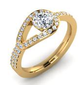 Eye Of the Needle Engagement Ring