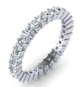 Full Brilliant Cut Eternity Ring Claw Set 2.4mm