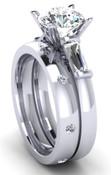 Engagement Ring Wedding Set Brilliant Cut