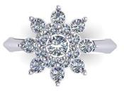 Snow Flake Engagement Ring