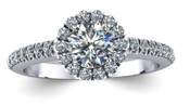 Brilliant Cut Halo Engagement Ring