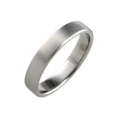 Titanium 4mm Court Ring with Curved Sides