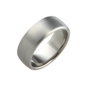 Titanium 8mm Court Ring with Curved Sides