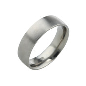 Titanium 6mm Court Ring with Flat Sides