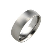 Titanium 7mm Court Ring with Flat Sides