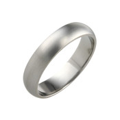Titanium 5mm D Shape Ring with Flat Sides