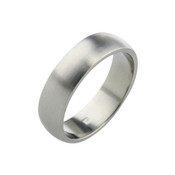 Titanium 6mm D Shape Ring with Flat Sides