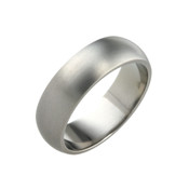 Titanium 7mm D Shape Ring with Flat Sides