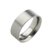 Titanium 8mm Flat Top Court Ring with Flat Sides